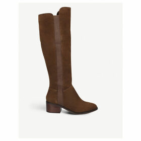 Giselle suede knee-high boots