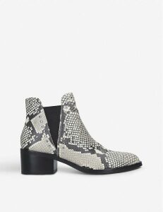 Cade snake-print faux-leather Chelsea boots