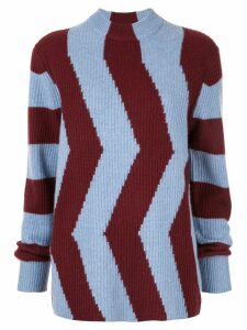 CK Calvin Klein colour-block fitted sweater - Blue