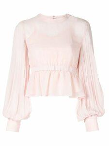 CK Calvin Klein pleated ruffle blouse - PINK