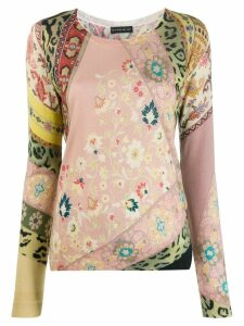 Etro abstract crew neck jumper - PINK