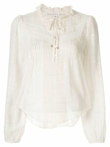Veronica Beard pleat-detailed cropped blouse - White