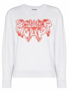 Ashley Williams Power Nap print sweatshirt - Grey