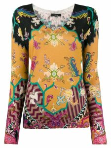 Etro paisley patterned sweater - Black