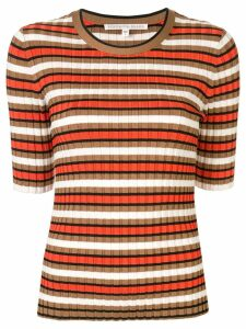 Veronica Beard striped ribbed top - Multicolour