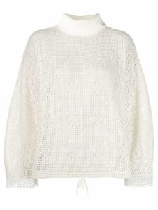 See by Chloé open knit jumper - White