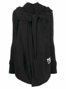 Rick Owens DRKSHDW wrap style hoodie jacket - Black