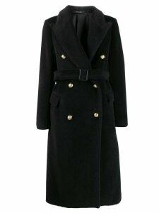 Tagliatore double breasted coat - Black