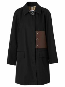 Burberry patch detail coat - Black