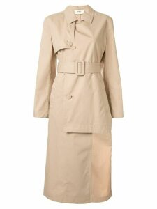 Ports 1961 uneven length trench coat - Neutrals
