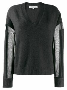 McQ Alexander McQueen sheer panel jumper - Grey