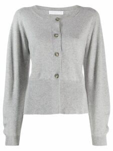 Fabiana Filippi side slit cardigan - Grey
