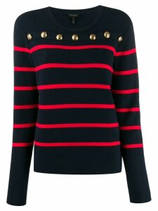 Escada striped print jersey top - Blue