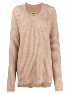 Uma Wang ribbed knit sweater - NEUTRALS