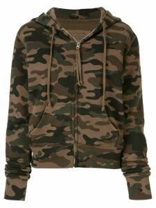 Nili Lotan camouflage print zipped hoodie - Green