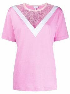 Escada Sport lace panel T-shirt - PINK