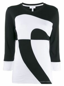 Escada Sport two-tone knit jumper - Black