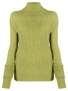 Jacquemus Sofia ribbed roll-neck jumper - Green