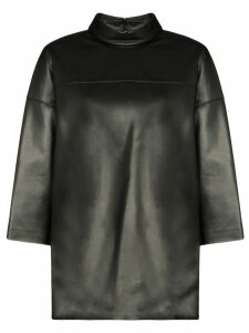 We11done cropped sleeve top - Black
