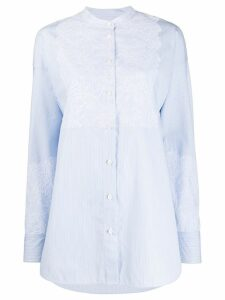 Escada Sport lace embellished shirt - Blue