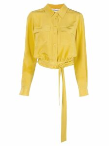 Diane von Furstenberg Everlynn cropped shirt - Yellow