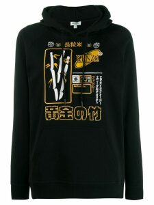 Kenzo embroidered motif hoodie - Black