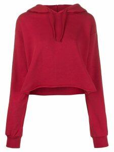 Gaelle Bonheur logo lined hoodie - Red