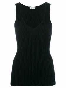 LIU JO sleeveless knitted top - Black