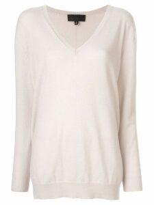 Nili Lotan cashmere V-neck jumper - White