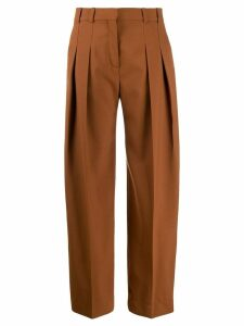 Victoria Victoria Beckham two pleated palazzo pants - Brown