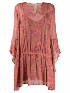 Kristina Ti lightweight floral dress - PINK