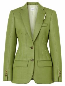 Burberry double-faced neoprene tailored jacket - Green