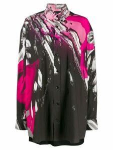 Maison Margiela oversized graphic print shirt - Black
