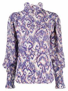 Isabel Marant Étoile abstract print blouse - Blue