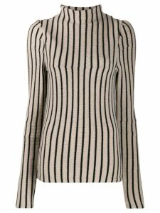 Mm6 Maison Margiela striped knit top - NEUTRALS