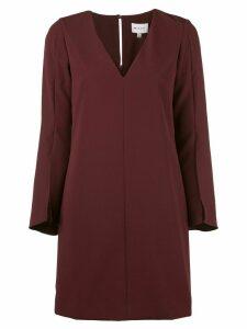 Milly V-neck mini dress - Purple
