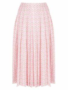 Victoria Beckham pleated jacquard skirt - PINK