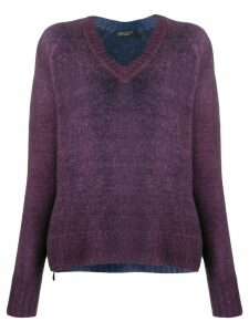 Aragona loose-fit V-neck jumper - PURPLE