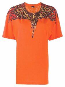 Marcelo Burlon County Of Milan Leopard Wings print T-shirt - ORANGE