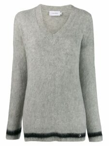 Calvin Klein contrasting stripe jumper - Grey
