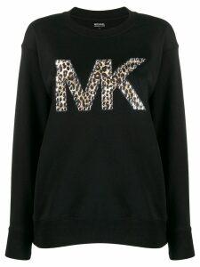 Michael Michael Kors studded logo sweatshirt - Black