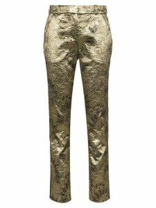 Faith Connexion brocade straight-leg trousers - GOLD