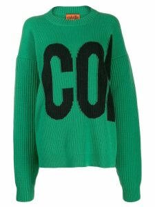 colville logo embroidered sweater - Green