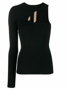 Nº21 one sleeve knitted top - Black