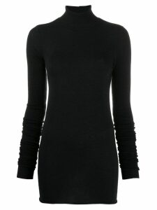 Rick Owens Lilies roll neck knitted top - Black