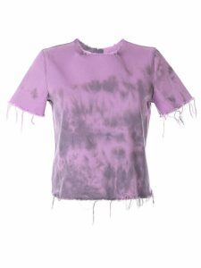 Marques'Almeida frayed crew-neck T-shirt - PURPLE