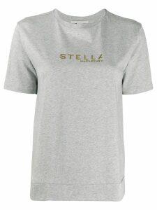 Stella McCartney logo print T-shirt - Grey