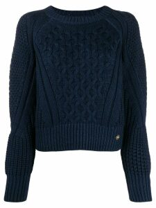 Elisabetta Franchi decorative knit jumper - Blue
