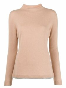 Fabiana Filippi metallic-hem raw-neck jumper - Neutrals