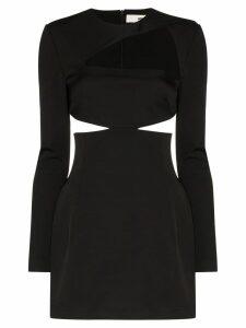032C Cosmic Workshop cutout mini dress - Black